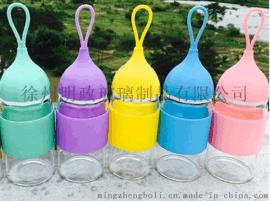 创意玻璃水杯可爱小艾杯洋葱杯学生杯随手杯透明带盖泡茶杯便携