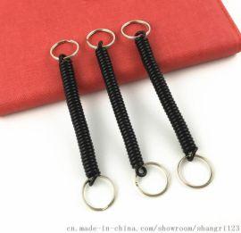 直销pu塑胶弹簧绳 焊接固定 双圈伸缩绳