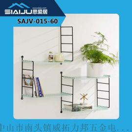 思愛居 簡約鐵藝壁掛鏤空裝飾層架 創意客廳臥室牆壁裝飾置物架