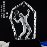 网球水晶纪念奖牌 网球活动比赛纪念水晶摆件定制