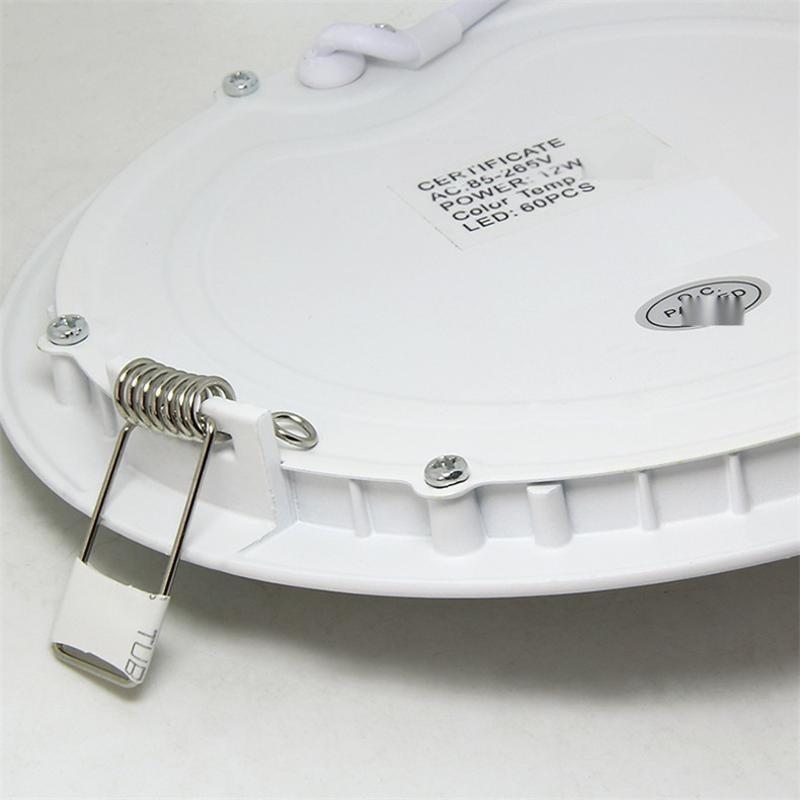 15W原装面板灯 圆形led面板灯外壳套件数字灯 圆形面板灯加工
