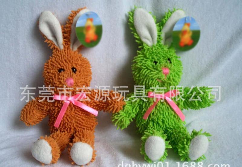 定做 长耳兔 单色兔 毛绒玩具 30cm站姿 **绒材料新款