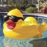 PVC充氣大黃鴨浮排 夏日休閒水上大黃鴨坐騎
