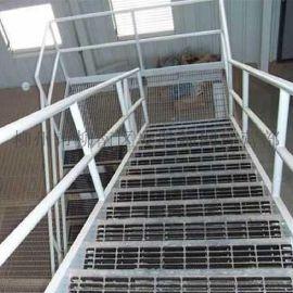 广西镀锌钢格栅板厂家 带齿楼梯踏步板 水沟盖板 复合钢格板