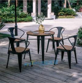 防腐木戶外桌椅室外休閒家具陽臺庭院五件套實木餐桌椅