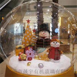 商场美陈装饰球,圣诞透明球罩,圣诞透明大球