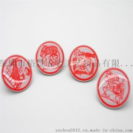 十二生肖金属徽章定制创意卡通印刷徽章生产厂家直销