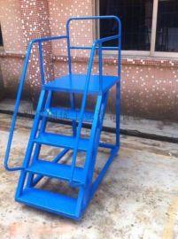 工厂仓库用登高梯/可移动双面登高搬料梯CAD图纸