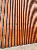 酒店外牆鋁方通幕牆,木紋鋁方通幕牆