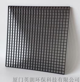 黑色塑料格栅网格食品级,装饰工程展柜水族用网板