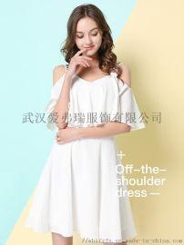 时尚潮流服装货源玛妮雅长袖碎花连衣裙【一手货源】