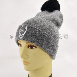 秋冬毛线针织帽子 成人提花毛线帽 男女保暖帽