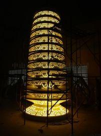不锈钢中式雕塑景观灯 中山恒逸景观灯 园林景观灯
