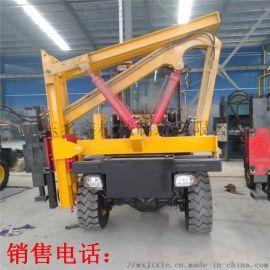 厂家供应光伏打桩机 护栏打桩机 铲车式打拔钻一体机