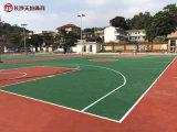 怀化小区篮球场塑胶地面施工案例图