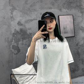 一件代发潮牌20新款/洋基队NY刺绣短袖T恤