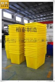 广东塑胶桶中山塑胶桶2000L推布车2立方塑料方桶