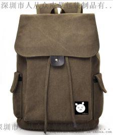 enkoo+CRA804+雙肩帆布背包