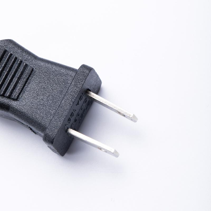 日本插头线 带鱼夹 PSE认证电源线 日标鳄鱼夹线