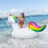 生产PVC充气玩具充气独角兽火烈鸟浮排坐骑