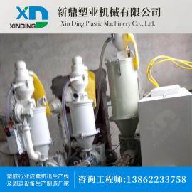 江苏厂家直销 锥形双螺杆塑料挤出机 挤出生产线