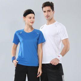 夏季速干短袖T恤定制男女户外运动文化衫工作服工装衣服印字logo