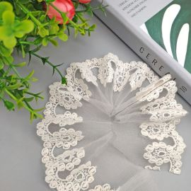 网刺绣花边家居盖布装饰花边婚纱裙子纯棉刺绣花边