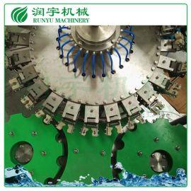 润宇机械厂家定制牛奶瓶热灌装生产线,牛奶瓶灌装机
