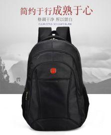 厂家定制批发商务双肩电脑背包广告礼品包定制定做可添加logo