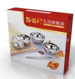 不锈钢礼品碗筷六件套