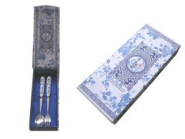廠價直銷高檔青花瓷勺叉 陶瓷勺叉 不鏽鋼勺子 情侶勺叉