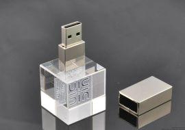 水晶礼品usb 发光usb随身碟 创意移动储存器 u盘厂家