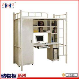 大学公寓组合铁架床 学生书桌衣柜组合床 员工宿舍床