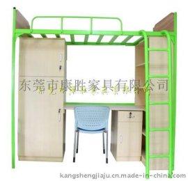 方管学生公寓床-东莞公寓床厂家生产上床下柜学生床