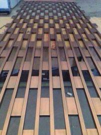 重庆不锈钢简单花格镀古铜色 彩色不锈钢装饰屏风
