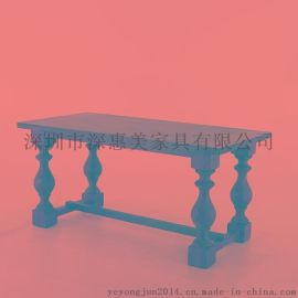 铁艺北欧办公桌复古酒吧咖啡厅餐桌椅组合复古实木桌子