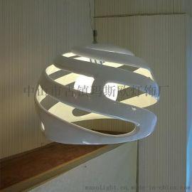 玛斯欧现代简约球形旋风树脂吊灯MS-P1055黄色绿色紫色可选5w LED光源餐厅吊灯