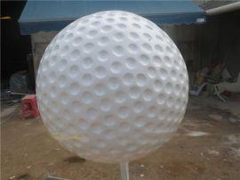 高尔夫球-树脂高尔夫球定制-广州玻璃钢高尔夫球雕塑摆设