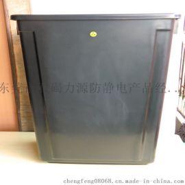 防静电不带盖20升方形垃圾桶,防静电垃圾箱, 防静电黑桶。