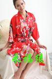 女式和服浴衣模擬絲浴袍
