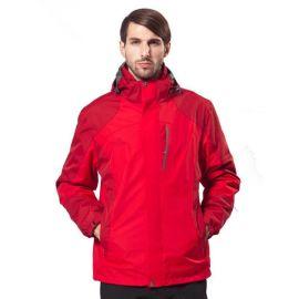 新款秋冬加厚保暖冲锋衣两件套户外团队工作服定做刺绣