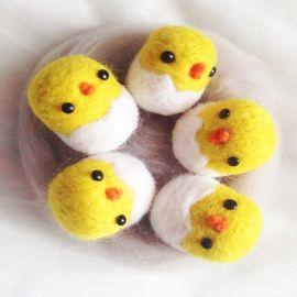 羊毛毡戳戳乐成品发饰配件 韩国可爱发饰羊毛毡蛋壳厂家批量定制