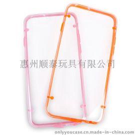 iphone6 透明双色软胶保护壳 透明手机保护壳 苹果配件