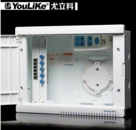 尤立科弱电箱家用套装光钎入户信息箱配电布线箱多媒体集线箱模块