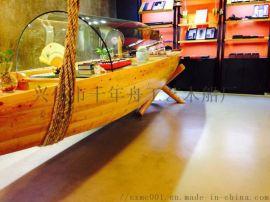 谭木匠收银台传统木船新型吧台收银台