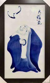 陶瓷瓷板画,景德镇陶瓷厂,馈赠礼品工艺品