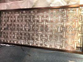 不锈钢仿古铜屏风 中式金属