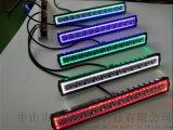 摩托车改装射灯led大灯摩托车直排12珠射灯