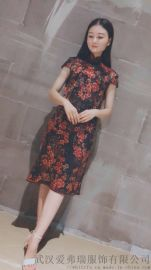 武汉服装进货吧【现货】亚阁连衣裙春款韩版