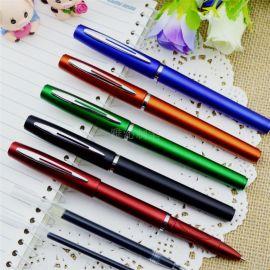 广州定制黑色磨砂中性签字笔商务礼品促销广告笔